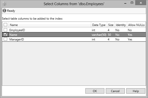 SQL Server Index Column Selection