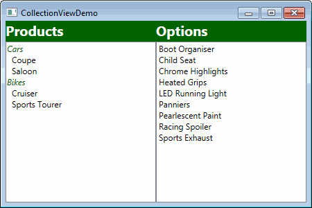 WPF CollectionView sorting and grouping in code